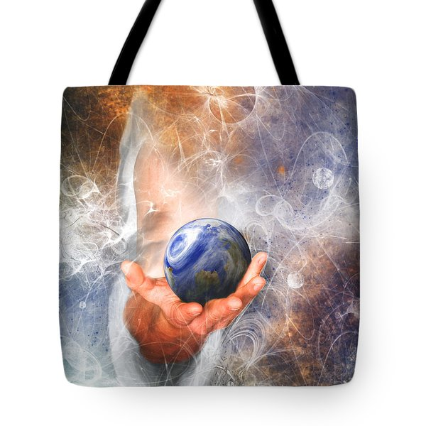 He's Got The Whole World In His Hand Tote Bag