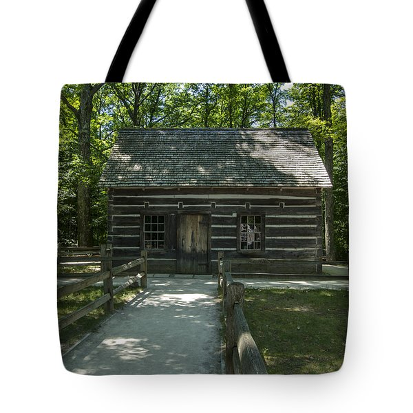 Hesler Log House #2 Tote Bag by Paul Cannon