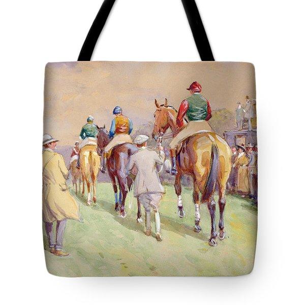 Hethersett Steeplechases Tote Bag by John Atkinson