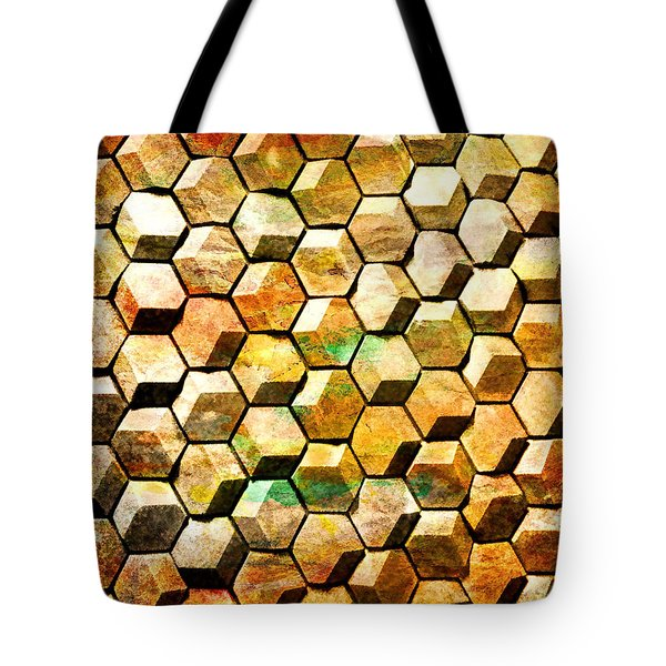 Hexacubes Tote Bag