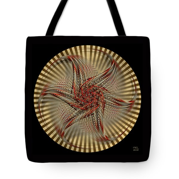 Tote Bag featuring the digital art Hexagramma by Manny Lorenzo