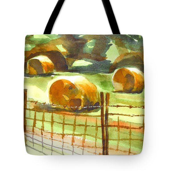 Hey Bales In The Afternoon Tote Bag by Kip DeVore