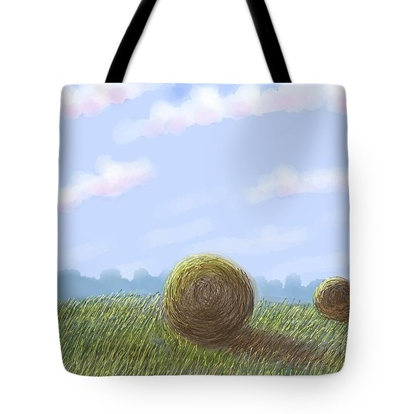 Hey I See Hay Tote Bag by Stacy C Bottoms
