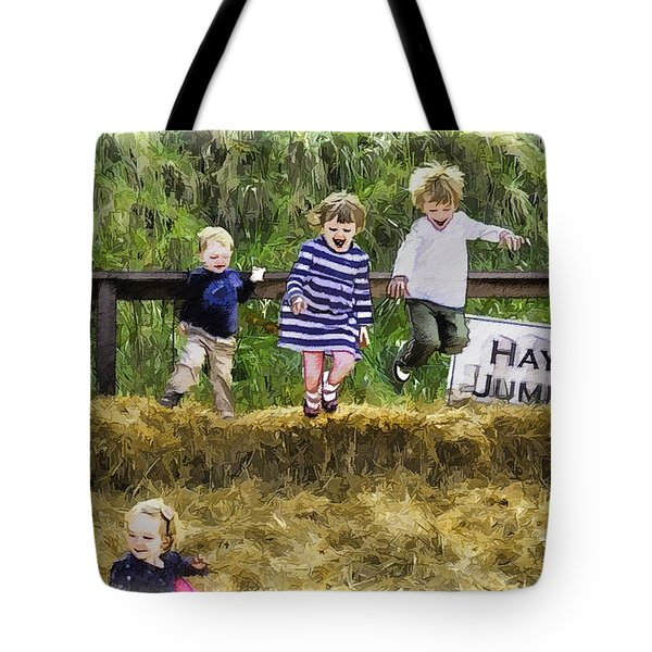 Hey Jump Tote Bag by John Haldane