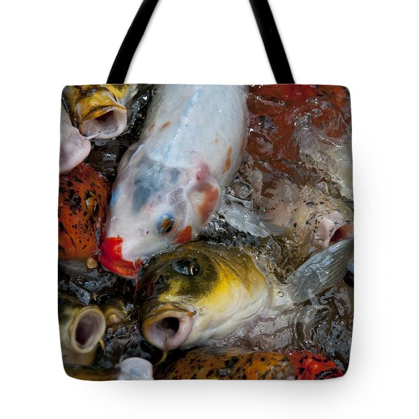 Hey Whats Happening Tote Bag by Wilma  Birdwell