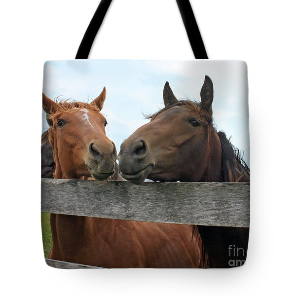 Hey You Come Here Tote Bag by Debbie Hart