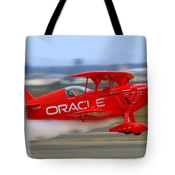 Tote Bag featuring the photograph Hi Speed Low Pass By Sean Tucker At Salinas Ksns Air Show by John King