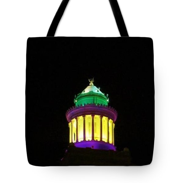 Hibernia Tower - Mardi Gras Tote Bag by Deborah Lacoste
