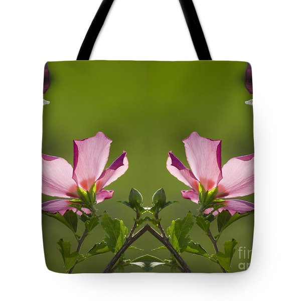 Hibiscus 07 Mirror Image Tote Bag by Thomas Woolworth