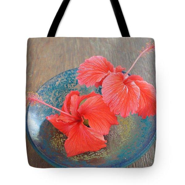 Hibiscus #4 Tote Bag by Chikako Hashimoto Lichnowsky