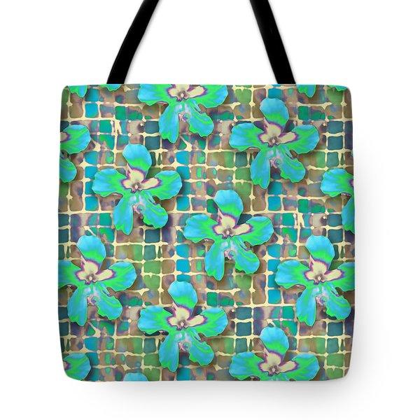 Hibiscus Blue Water Tote Bag