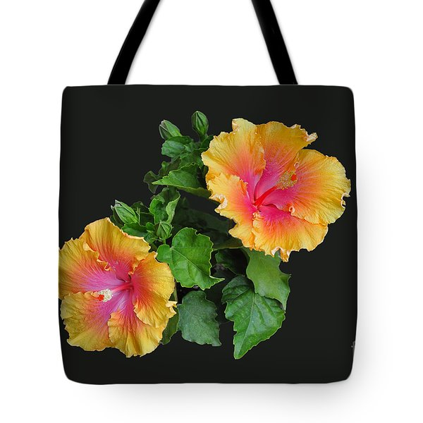 Tote Bag featuring the photograph Hibiscus Duo by Susan Wiedmann