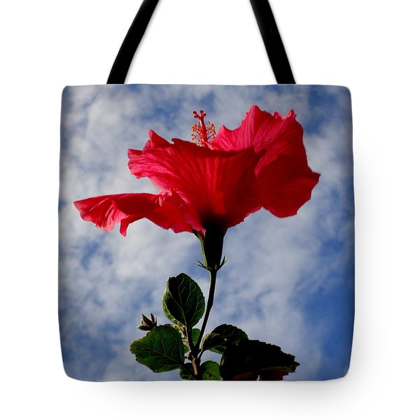 Hibiscus In The Sky Tote Bag