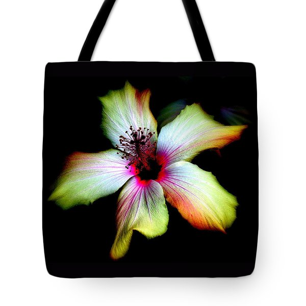 Tote Bag featuring the photograph Hibiscus by Jodie Marie Anne Richardson Traugott          aka jm-ART