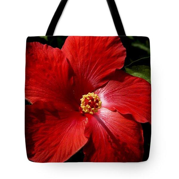 Hibiscus Landscape Tote Bag