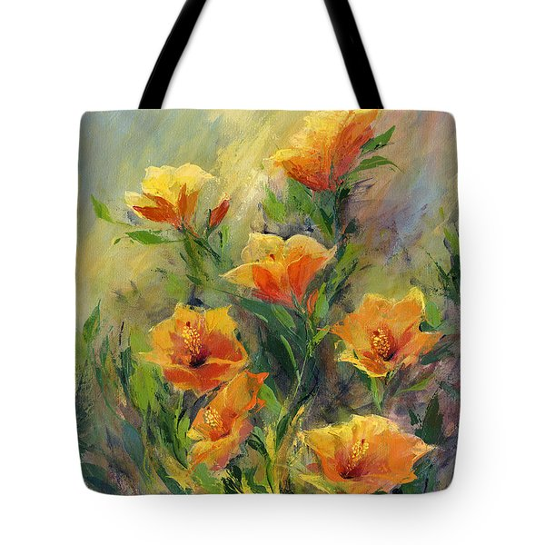Hibiscus Tote Bag by Madeleine Holzberg