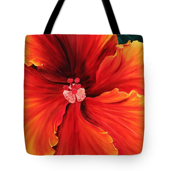 Tote Bag featuring the painting Hibiscus by Melinda Cummings