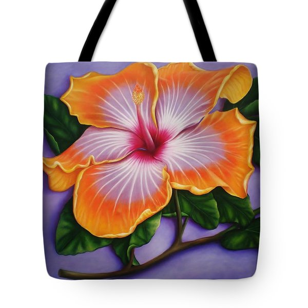 Hibiscus Tote Bag by Paula Ludovino