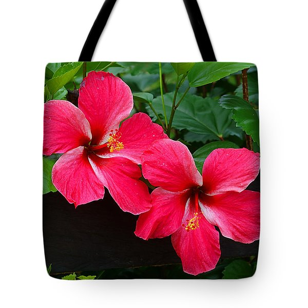 Hibiscus Portrait Tote Bag by Blair Wainman