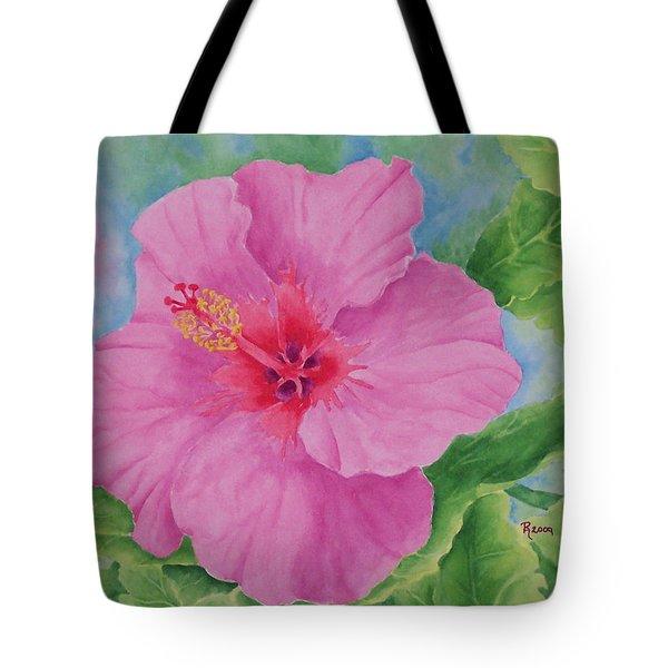 Hibiscus Tote Bag by Rhonda Leonard