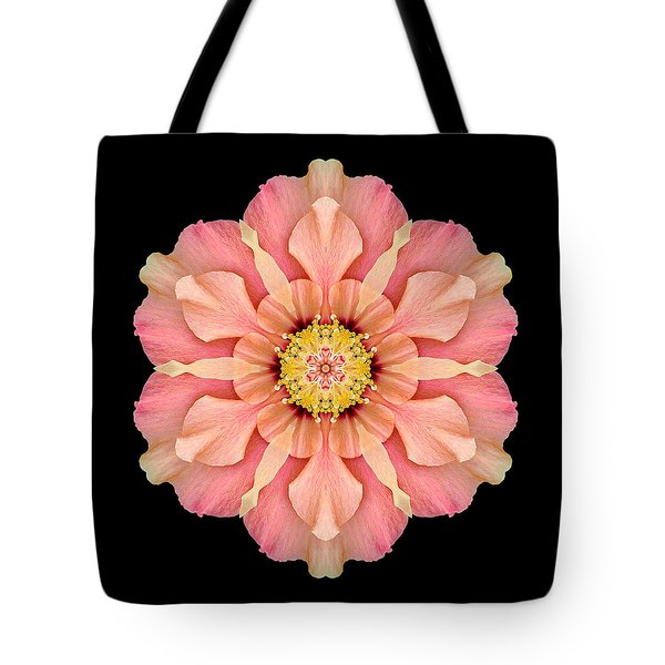 Tote Bag featuring the photograph Hibiscus Rosa-sinensis I Flower Mandala by David J Bookbinder