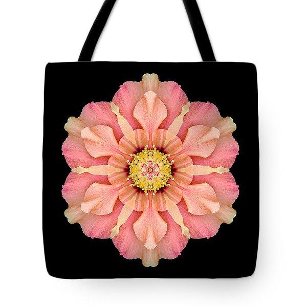 Hibiscus Rosa-sinensis I Flower Mandala Tote Bag by David J Bookbinder
