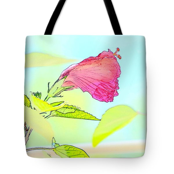 Hibiscus Unbloomed Tote Bag by Cathy Shiflett