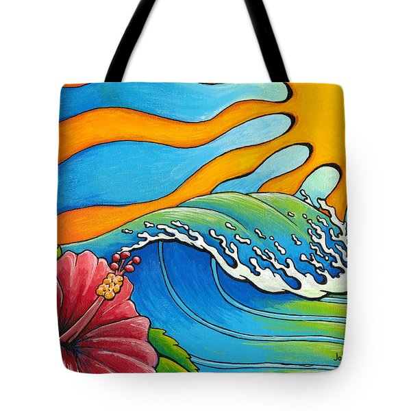 Hibiscus Wave Tote Bag