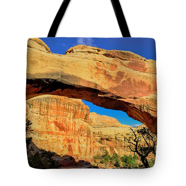 Tote Bag featuring the photograph Hickman Bridge by Greg Norrell