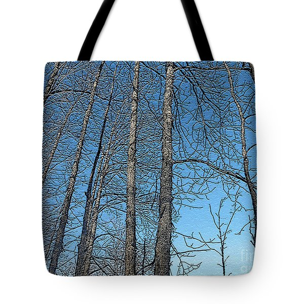 Hickory Trees In Winter Tote Bag