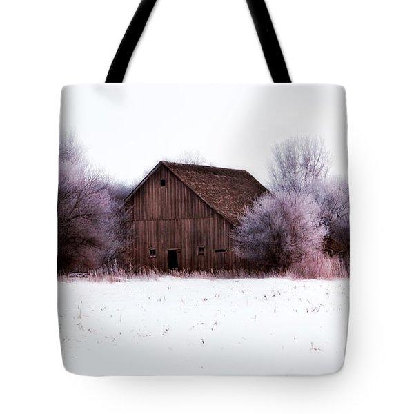 Hidden Barn Tote Bag by Julie Hamilton