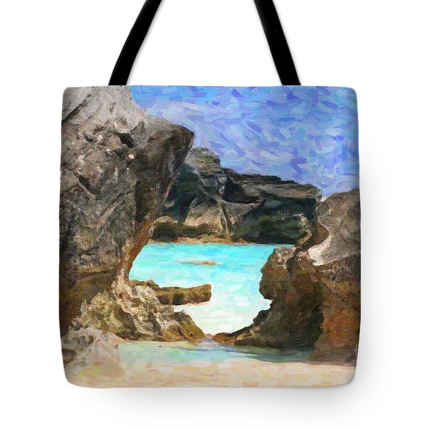 Tote Bag featuring the photograph Hidden Beach by Verena Matthew