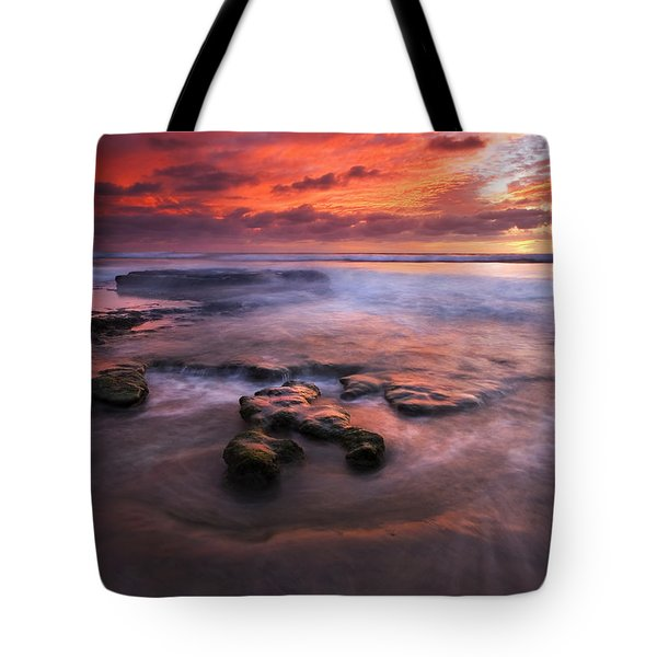 Hidden By The Tides Tote Bag by Mike  Dawson