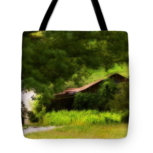 Hidden Down The Road Tote Bag