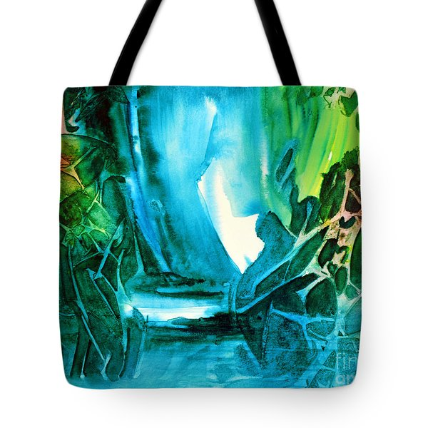Tote Bag featuring the painting Hidden In The Stream by Allison Ashton