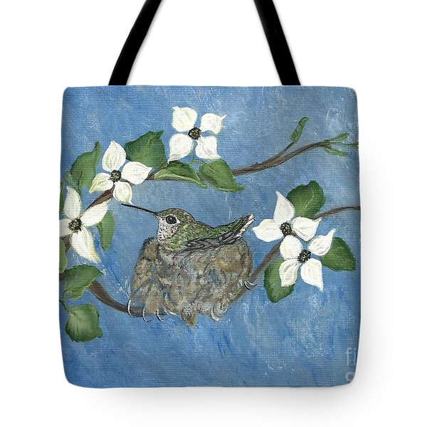 Tote Bag featuring the painting Hidden Jewel by Ella Kaye Dickey