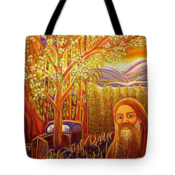 Hidden Mountain Man Tote Bag