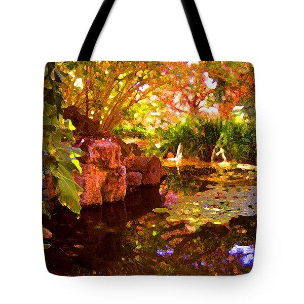 Hidden Pond Tote Bag by Amy Vangsgard