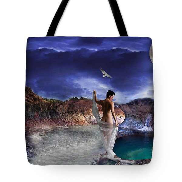 Hidden River Tote Bag by Liane Wright