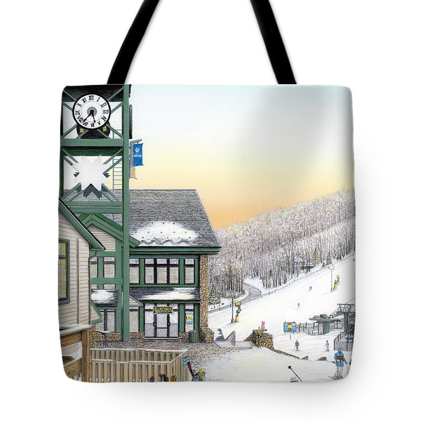 Hidden Valley Ski Resort Tote Bag by Albert Puskaric