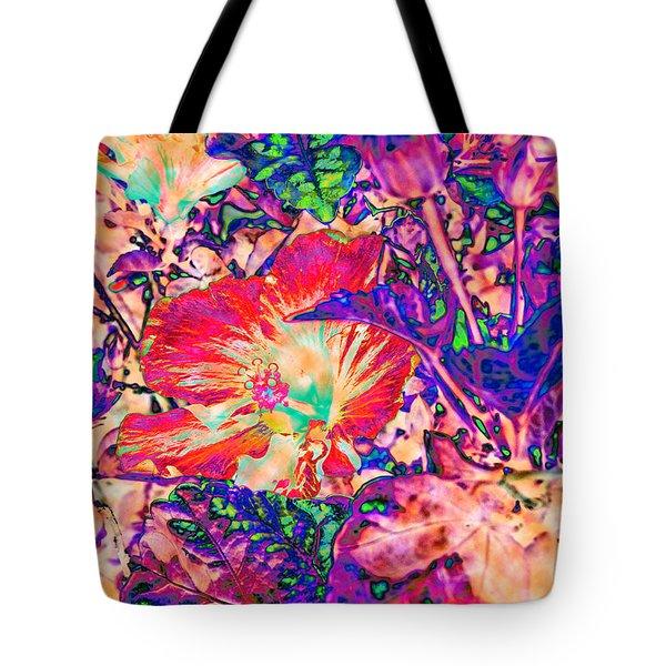 Hiding Hibiscus Tote Bag