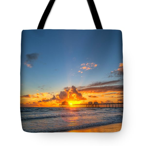Hiding Sunset Tote Bag