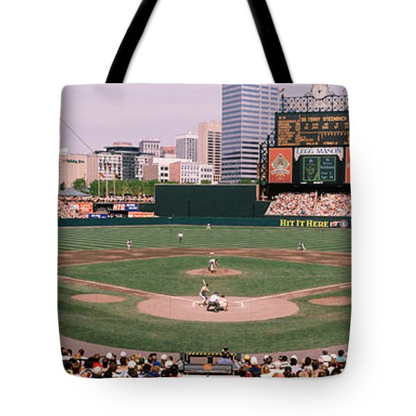 High Angle View Of A Baseball Field Tote Bag
