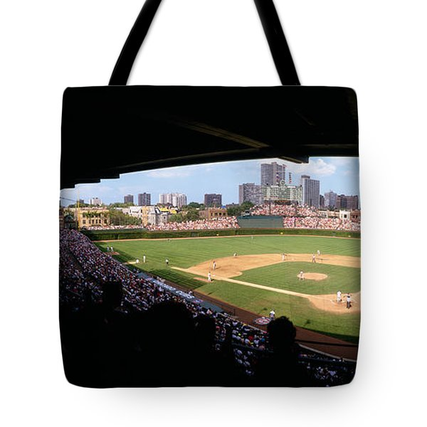 High Angle View Of A Baseball Stadium Tote Bag by Panoramic Images