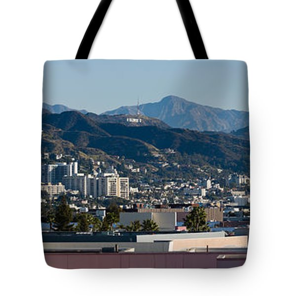 High Angle View Of A City, Beverly Tote Bag