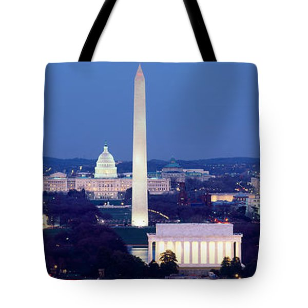 High Angle View Of A City, Washington Tote Bag by Panoramic Images