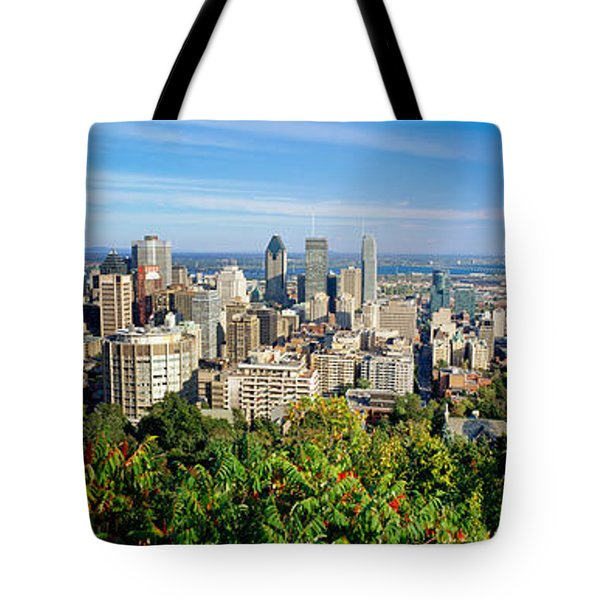 High Angle View Of A Cityscape, Parc Tote Bag
