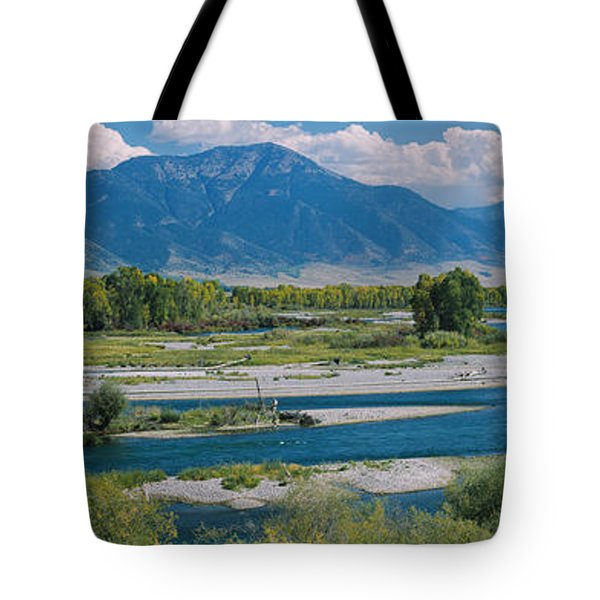 High Angle View Of A Lake, Snake River Tote Bag