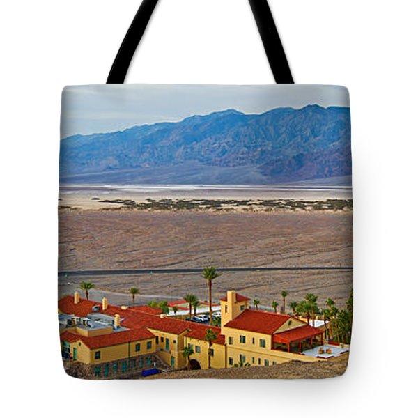 High Angle View Of A Tourist Resort Tote Bag