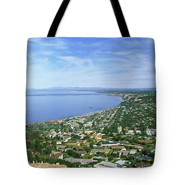 High Angle View Of A Town, La Jolla Tote Bag